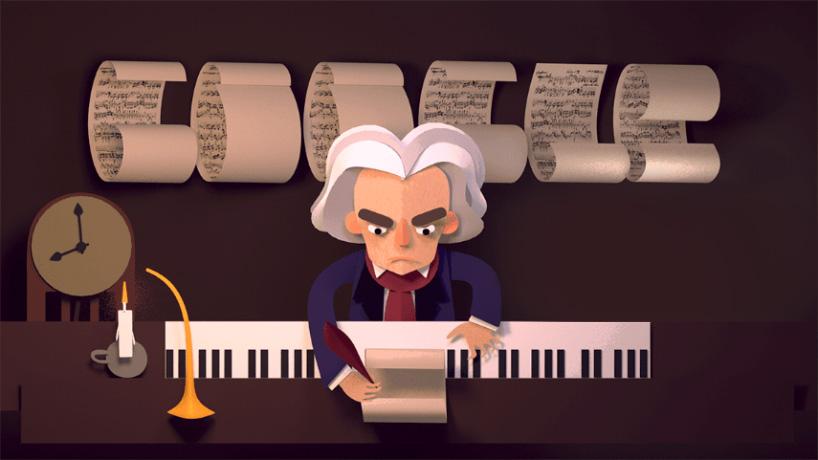 Google Doodle για τον Μπετόβεν – Έξυπνο, μουσικό, παιχνιδιάρικο!
