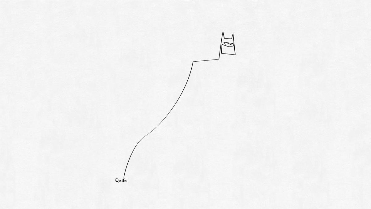 Υπέροχα σχέδια μόνο με μια γραμμή από τον Christophe Louis Quibe
