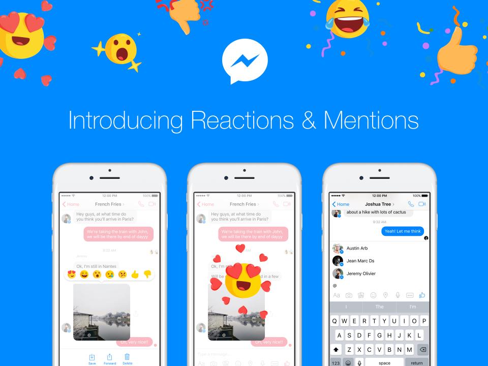 Τα Messenger Reactions ήρθαν και τώρα περιμένουμε τα Mentions
